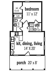 Small cottage house plans small in size big on charm for Small stone cottage floor plans