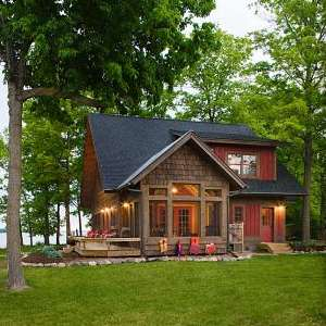 Standout fishing cabin designs finding fish and fun for Lakefront cottage designs