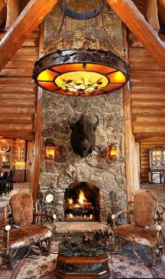 Standout log home fireplaces bold and breathtaking for Log home fireplaces
