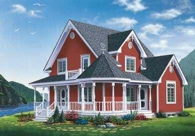 Standout cottage designs cozy cute quaint for Queen anne cottage house plans