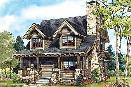 Log cabin floor plan designs little architectural for Log and stone home plans