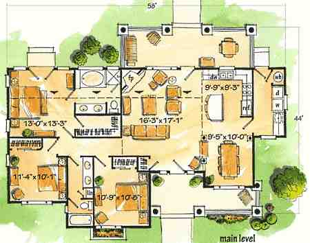 Log cabin floor plan designs little architectural for Log home kit floor plans