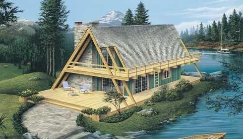 a frame cabin plans