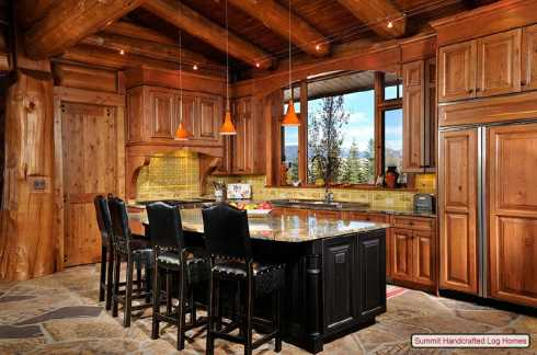 Log cabin home decor bedrooms bathrooms and Cabin kitchen decor