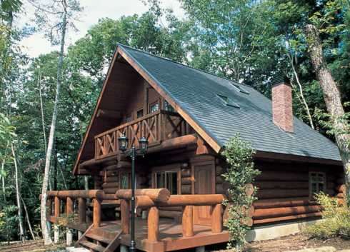 Log cabin kit homes kozy cabin kits for Small cottage plans canada