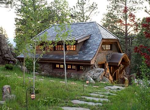 Small stone cottages truly timeless for How to build a stone cabin