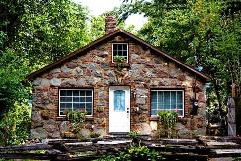 Stone cottage design captivating and enchanting for Stone cottage house plans