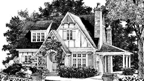 Storybook cottage house plans hobbit huts to cottage for Old english cottage house plans