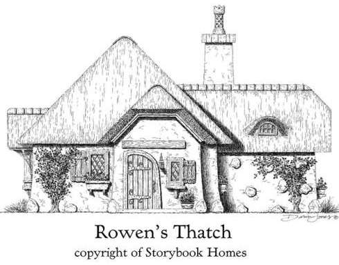 Storybook home plans old world styling for modern for Thatched house plans