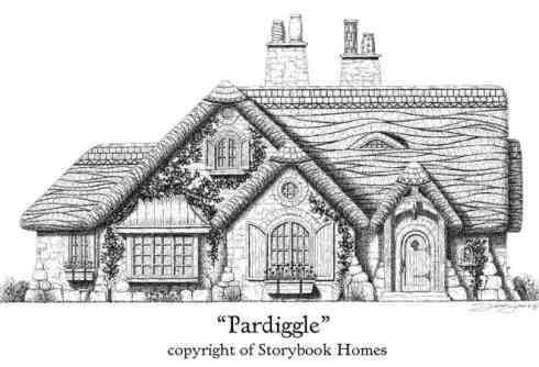Storybook home plans old world styling for modern for Fairytale cottage house plans