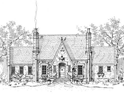 Storybook house plans cozy country cottages for Storybook style house plans