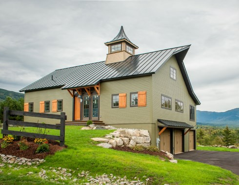 Barn style house plans in harmony with our heritage for Barn home plans with photos