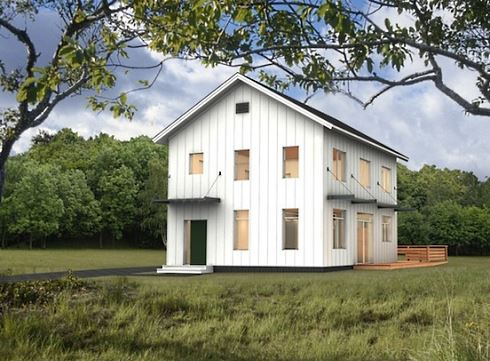 Barn style house plans in harmony with our heritage for Two story barn house plans