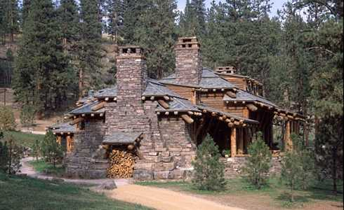 monumental mountain lodge on montana cattle ranch