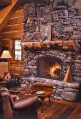 cabin fireplace designs