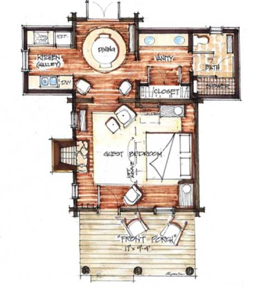 cozy cabin floor plans you can use to make your getaway - Cabin Floor Plans