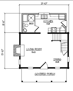 Cozy cabin floor plans you can use to make your getaway for 800 square foot log cabin plans