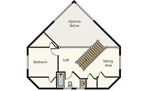 cabin floor plans with loft small