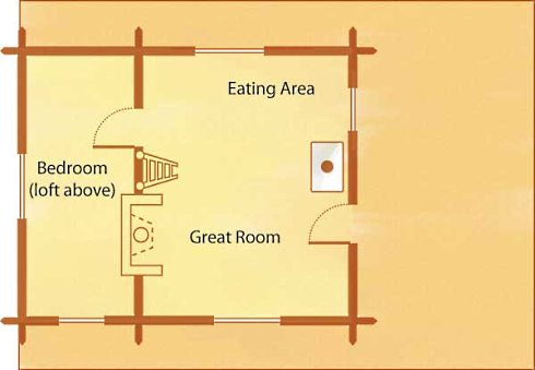 Compact cabin floor plans efficient and engaging for Compact cabins floor plans