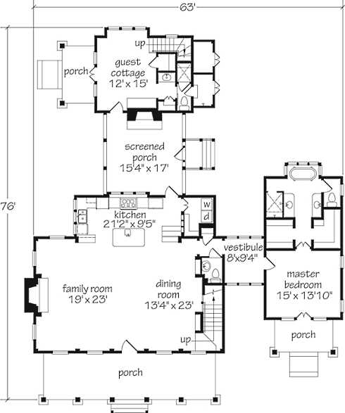 One Room Guest House Floor Plans