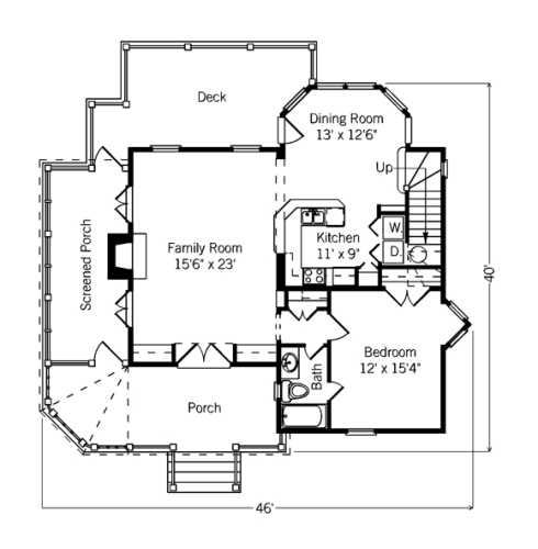 Floor Plans Designs For Homes: Small Cottage Floor Plans...Compact Designs For