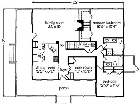 Small cottage floor plans compact designs for for Cottage floor plans