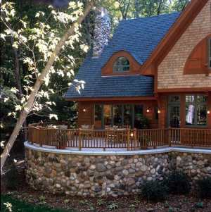 Stone Cottage House Plans on Wonder        This Cozy Wood Clapboard    Shingle And Stone Cottage