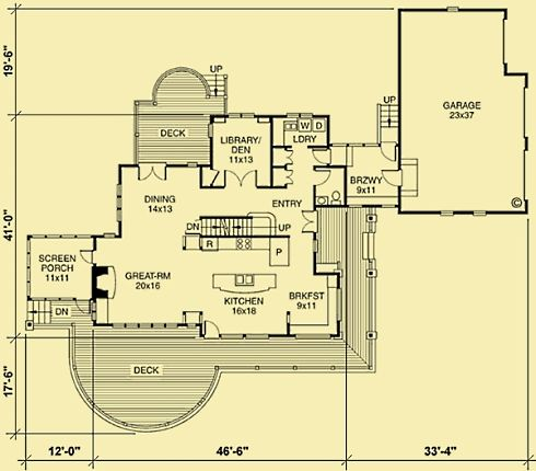 Breezeway garage house plan house design Breezeway house plans