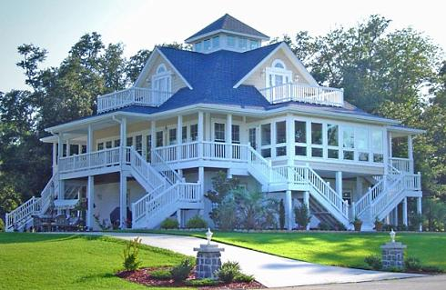 Cottage plans with porches a profusion of porches for Seaside cottage plans