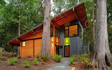 eco friendly homes and cabins small and sustainable. Black Bedroom Furniture Sets. Home Design Ideas