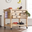 farmhouse kitchen cart