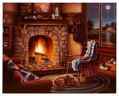 Cabin FeverHot Fireplace Designs