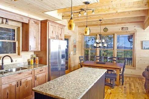fishing cabin kitchen