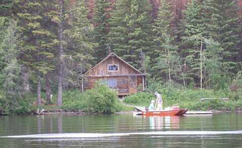 The standout fishing cabin netting fish nostalgic for Fishing cabin kits