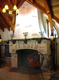 hobbit house fireplace