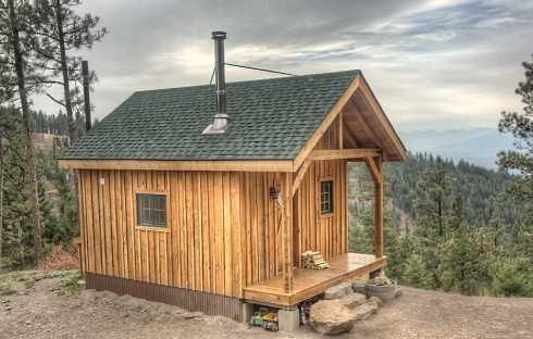 Cabin outline el real estate for Small hunting cabin designs