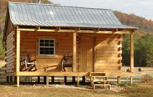 Standout hunting cabins right on target for Simple log cabin plans free