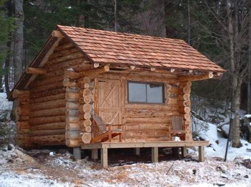 Standout hunting cabins right on target for Small easy to build cabin plans