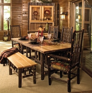 log cabin furnishings