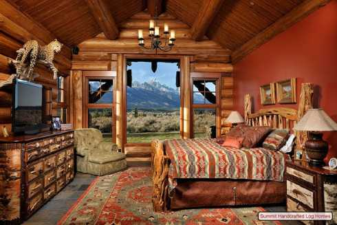 Two bedroom log cabin plans bedroom furniture high for Two room log cabin