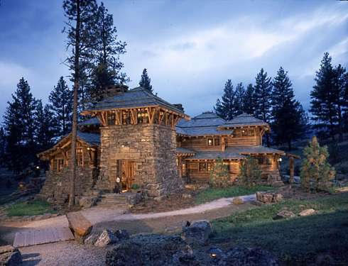 Log cabin home designs monumental magnificence for Lodge home designs