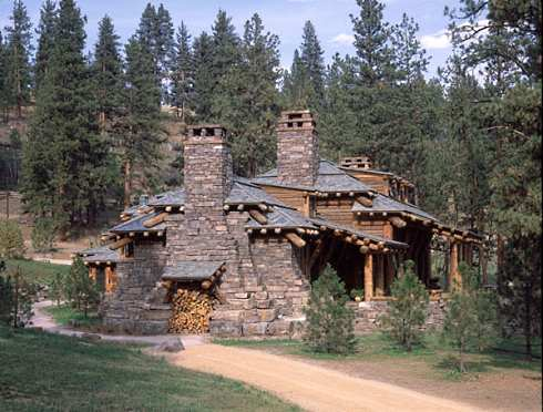 Log cabin home designs monumental magnificence for Stone log cabin