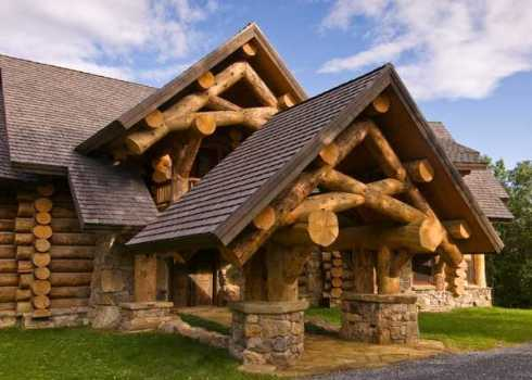 Extraordinary log cabin houses big bold and beautiful for Big log cabin homes