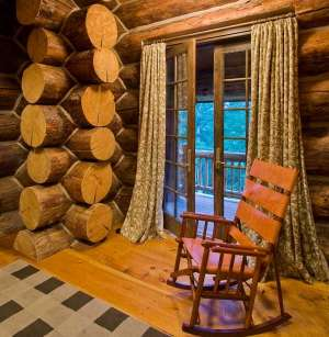 log cabin interior design