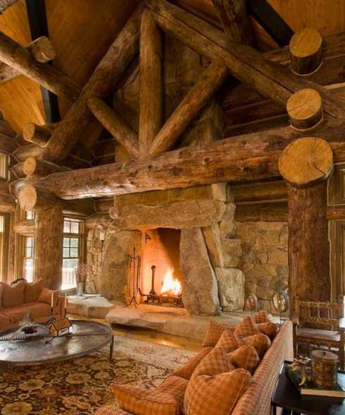 Log cabin interior design an extraordinary cowgirl for Interior designs for log cabins