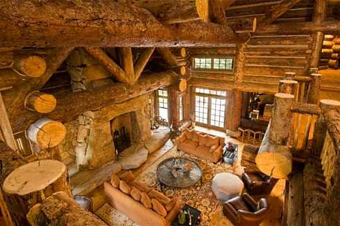 Nice Log Cabin Interior Design