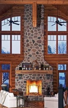 The Log Cabin Fireplace Warming Hearts For Centuries
