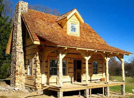 Log cabin pictures favorite small log cabins for Log and stone home plans