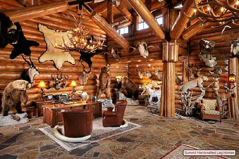 Log Home Decorating On A Truly Grand Scale!
