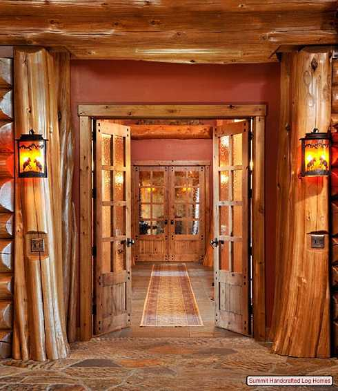Log Home Decor: Log Home Decorating On A Truly Grand Scale